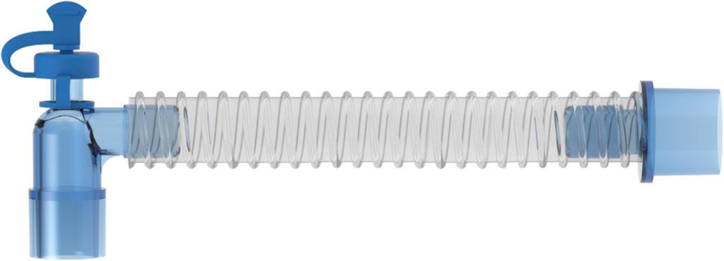 Il catetere di Mount (o tubo corrugato) funge da collegamento tra l'ambu e il paziente permettendo maggiore libertà di movimento